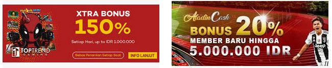 Promo bonus member baru judi online Sbobet